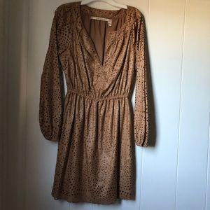 Chelsea & Violet Light Brown Design Cutout Dress